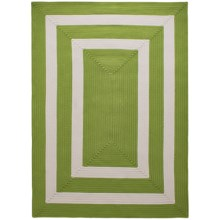 Colonial Mills Braided Indoor/Outdoor Area Rug - 8x10', Bordered Delight in Lime - Overstock