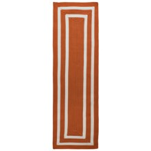 Colonial Mills Braided Indoor/Outdoor Floor Runner - 2x7', Bordered Delight in Tangerine - Overstock
