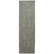 Colonial Mills Braided Indoor/Outdoor Floor Runner - 2x7', Rustic Tweed in Seagrass - Overstock