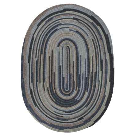 Colonial Mills Braided Oval Area Rug - 8x10' in Denim Blend - Closeouts