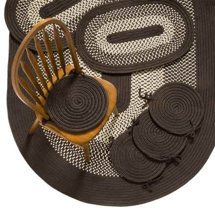 Colonial Mills Braided Rug Set - 7-Piece in Chocolate - Closeouts