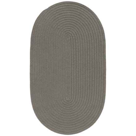 """Colonial Mills Breckenridge Braided Oval Accent Rug - 27x46"""" in Grey - Closeouts"""