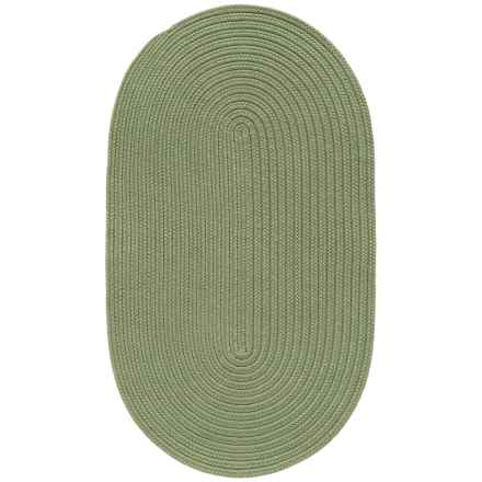 "Colonial Mills Breckenridge Braided Oval Accent Rug - 27x46"" in Moss - Closeouts"
