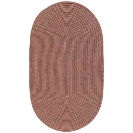 "Colonial Mills Breckenridge Braided Oval Accent Rug - 27x46"" in Terracotta - Closeouts"