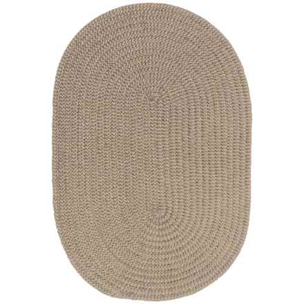 Colonial Mills Chenille Check Braided Area Rug - 4x6' in Beige Check - Closeouts