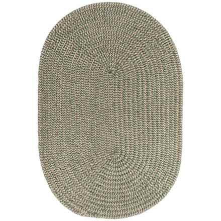 Colonial Mills Chenille Check Braided Area Rug - 4x6' in Green Check - Closeouts