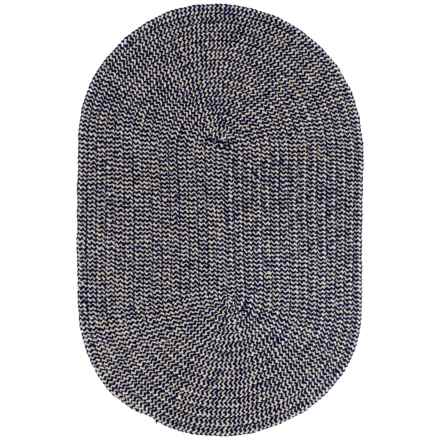 Colonial Mills Chenille Check Braided Area Rug - 4x6' in Navy Check - Closeouts