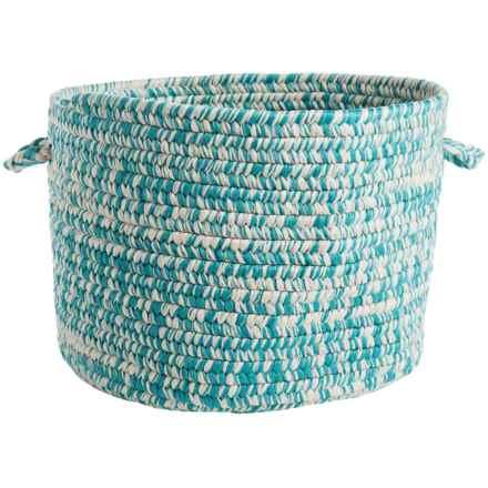 "Colonial Mills Colored Tweed Storage Basket - 16x11"" in Ocean Blue - Closeouts"