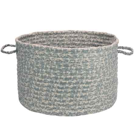 """Colonial Mills Cotton-Blend Storage Basket - 14x10"""" in Graystone - Closeouts"""