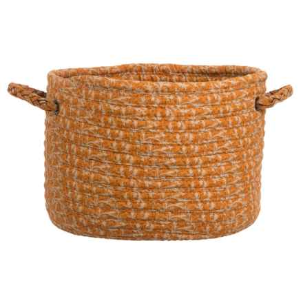 "Colonial Mills Cotton-Blend Storage Basket - 14x10"" in Rust - Closeouts"
