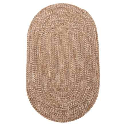 Colonial Mills Diablo Braided Area Rug - 4x6' in Teak Sand - Closeouts