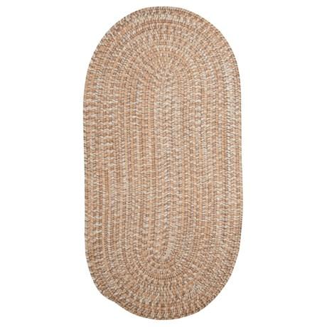 Colonial Mills Diablo Braided Scatter Rug - 2x4' in Teak Sand