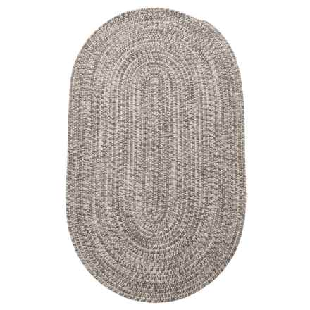Colonial Mills Diablo Braided Scatter Rug - 3x5' in Grey Shimmer - Closeouts