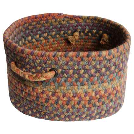 Colonial Mills Farmstand Wool Storage Basket - Large in Color Burst - Closeouts