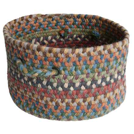 Colonial Mills Farmstand Wool Storage Basket - Large in Multi Medley - Closeouts