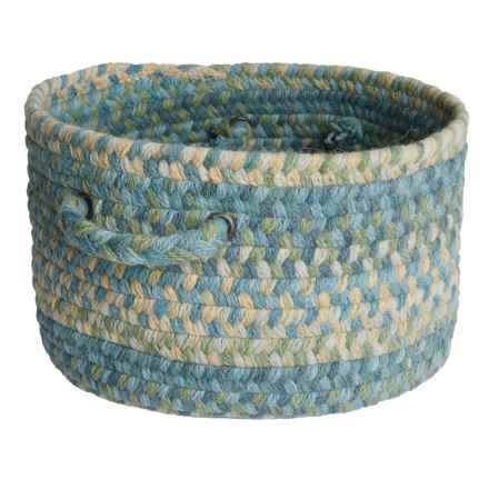 Colonial Mills Farmstand Wool Storage Basket - Large in Seaside Blue - Closeouts