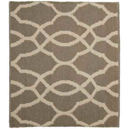 "Colonial Mills Geometric Flat-Weave Rug - 26x34"" in Beige Linen - Closeouts"