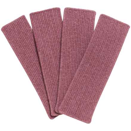 Colonial Mills Heathered Rectangle Stair Treads - Wool Blend, Set of 4 in Mauve - Closeouts