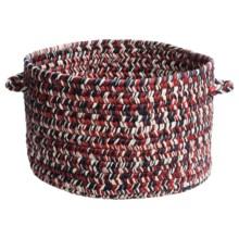 """Colonial Mills Indoor/Outdoor Textured-Tone Storage Basket - 15"""" Round in America - Overstock"""