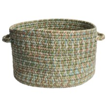 "Colonial Mills Indoor/Outdoor Textured-Tone Storage Basket - 15"" Round in Seafoam - Overstock"