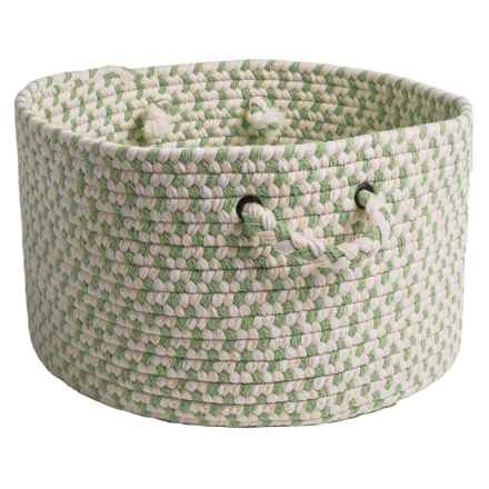 Colonial Mills Lexington Blended Wool Storage Basket - Large in Isle Green - Closeouts