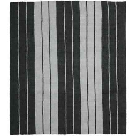 "Colonial Mills Lux Stripe Flat-Weave Rug - 26x34"" in Black/White - Closeouts"