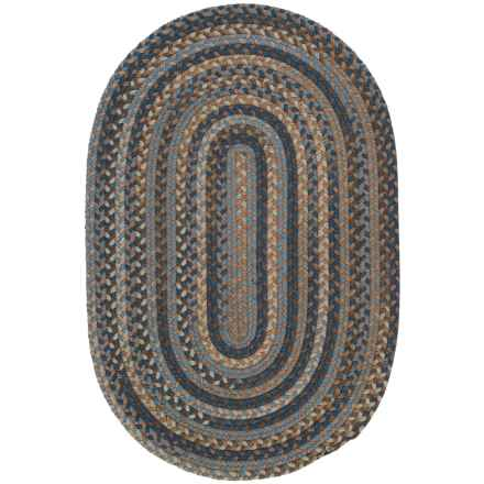 Colonial Mills Millworks Oval Rug - Braided Wool, 5x8' in Laguna - Overstock