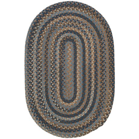 Colonial Mills Millworks Oval Rug - Braided Wool, 5x8' in Laguna