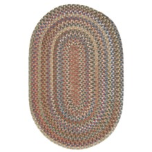 Colonial Mills Millworks Oval Rug - Braided Wool, 8x11' in Dusk - Overstock