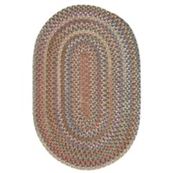 Colonial Mills Millworks Oval Rug - Braided Wool, 8x11' in Dusk