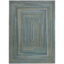 Colonial Mills Misted Isle Wool Braided Area Rug - 7x9' in Blue Crest - Closeouts