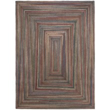 Colonial Mills Misted Isle Wool Braided Area Rug - 7x9' in Multi Medley - Closeouts