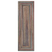 Colonial Mills Misted Isle Wool Braided Floor Runner - 2x6' in Multi Medley - Closeouts