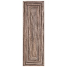 Colonial Mills Misted Isle Wool Braided Floor Runner - 2x6' in Nat Stone - Closeouts