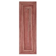 Colonial Mills Misted Isle Wool Braided Floor Runner - 2x6' in Rusted Red - Closeouts