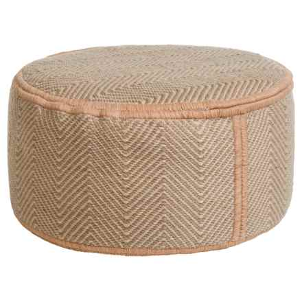 "Colonial Mills Moroccan Trellis Pouf Ottoman - 11x20"" in Highland - Closeouts"