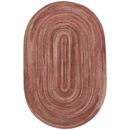 Colonial Mills Pacific Braided Area Rug - 8x10', Wool in Redwood - Closeouts