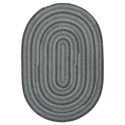 Colonial Mills Paddington Braided Area Rug - 5x7' in Oasis Blue - Overstock