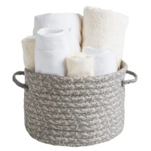"Colonial Mills Printworks Round Storage Basket - 17x17x10"" in Graystone - Overstock"