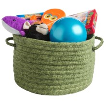 "Colonial Mills Printworks Round Storage Basket - 17x17x10"" in Picnic Green - Overstock"