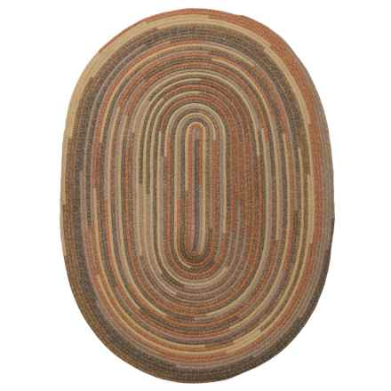 Colonial Mills Quilted Braided Oval Scatter Rug - 3x5' in Rustic Blend - Closeouts