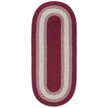 Colonial Mills Reversible Textured Floor Runner - 2x5' in Barn Red - Overstock