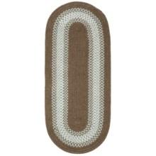 Colonial Mills Reversible Textured Floor Runner - 2x7' in Brownstone - Overstock