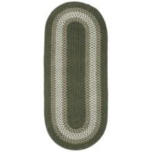 Colonial Mills Reversible Textured Floor Runner - 2x7' in Olive - Overstock