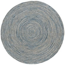 Colonial Mills Round Textured Tweed Rug - 6x6' in Blue Wash - Overstock