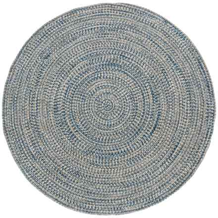 Colonial Mills Round Textured Tweed Rug - 8x8' in Blue Wash - Overstock