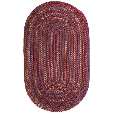 Colonial Mills Sapphire Oak Braided Area Rug - 5x8' in Barn Red - Closeouts