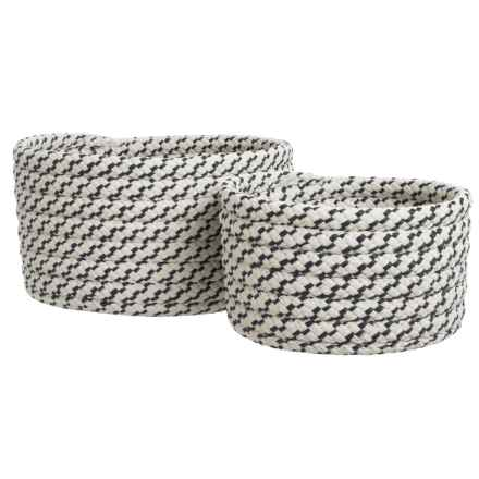 Colonial Mills Sterling Nesting Baskets - Set of 2 in Ebony Lace - Closeouts