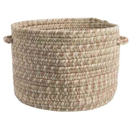 """Colonial Mills Textured-Tweed Storage Basket - 14x10"""" in Lodge Green - Closeouts"""
