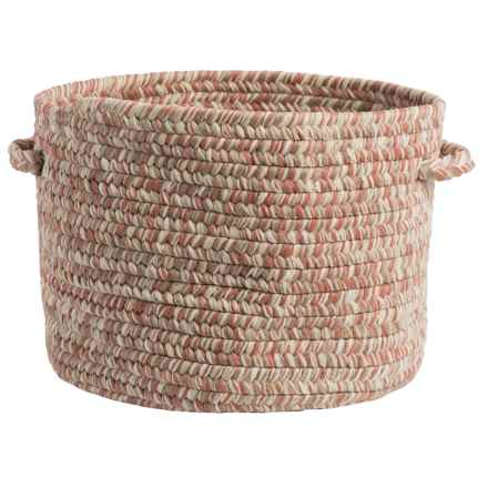 "Colonial Mills Textured-Tweed Storage Basket - 14x10"" in Porcelain Rust - Closeouts"